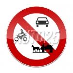 Accesul interzis autovehiculelor si vehiculelor cu tractioune animala.