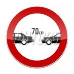 Interzis autovehiculelor de a circula fara a mentine intre ele un interval de cel putin Ym