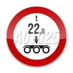 Accesul interzis vehiculelor cu masa pe osie tripla mai mare de Yt
