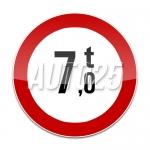Accesul interzis vehiculelor cu masa mai mare de Yt