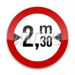 Accesul interzis vehiculelor cu latimea mai mare de Ym